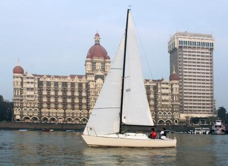 Sailing in yacht in goa
