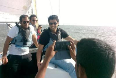 Sailing with friends in Mumbai